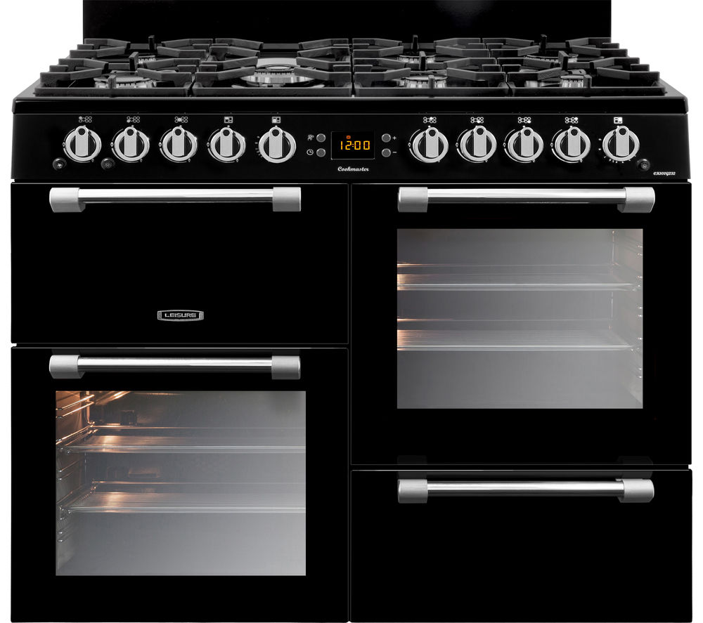 LEISURE Cookmaster CK100G232K 100 cm Gas Range Cooker - Black & Chrome