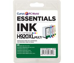 ESSENTIALS 920 XL Cyan, Magenta, Yellow & Black HP Ink Cartridges - Multipack