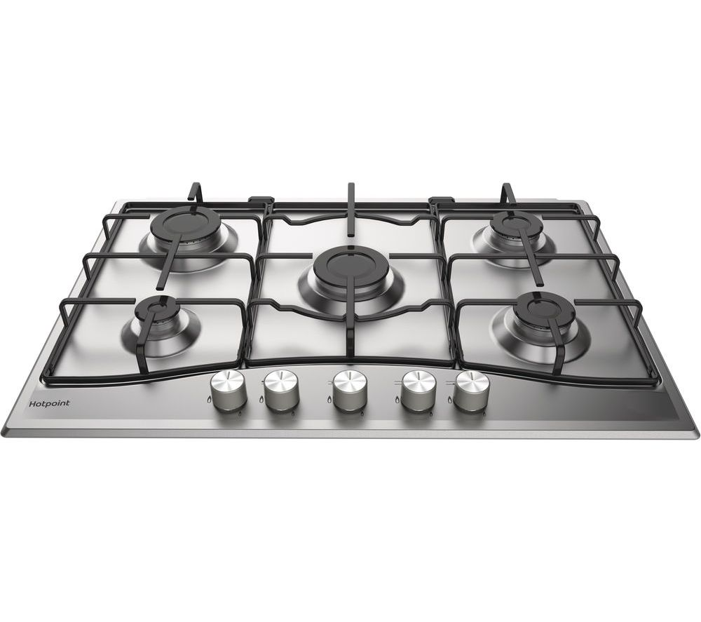 HOTPOINT  PCN 752 UIXH Gas Hob  Stainless Steel Stainless Steel