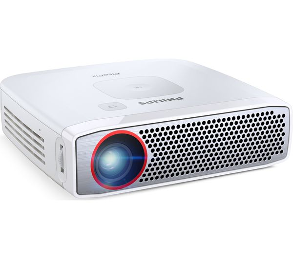 Philips picopix ppx4835 short throw hd ready portable for Best portable projector for ipad