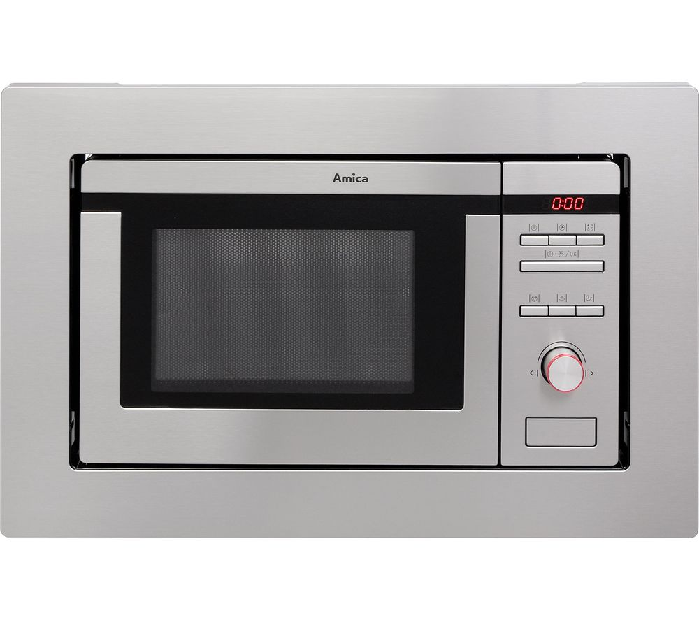 AMICA  AMM20BI Builtin Microwave with Grill  Stainless Steel Stainless Steel