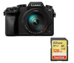 PANASONIC Lumix DMC-G7EB-K Compact System Camera with Lumix G VARIO 14-140 mm f/3.5-5.6 ASPH POWER OIS Telephoto Zoom Lens - Black