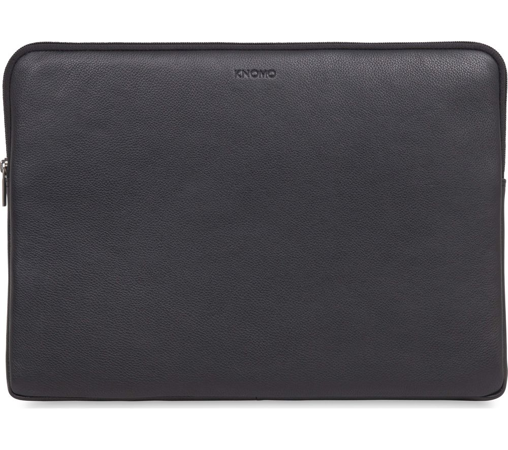 "KNOMO 45-102-BLK 15"" Leather Laptop Sleeve - Black"