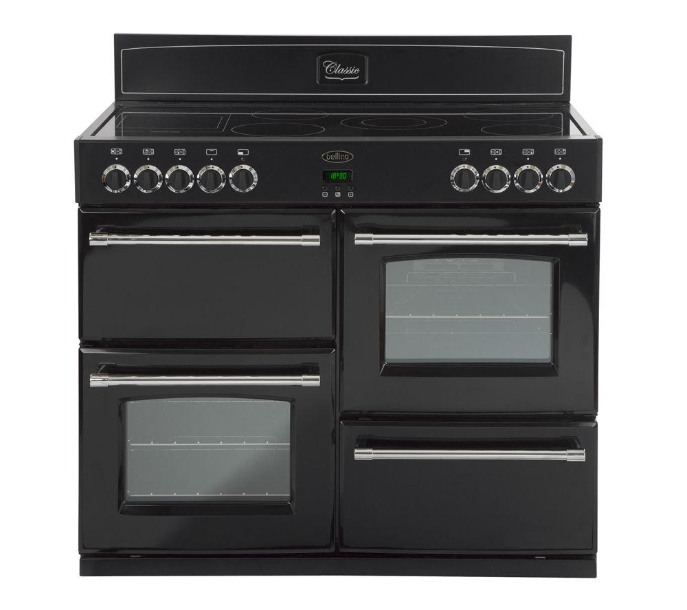 BELLING 110E Electric Ceramic Range Cooker - Black