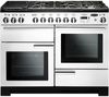 RANGEMASTER Professional Deluxe 110 Dual Fuel Range Cooker - White & Chrome