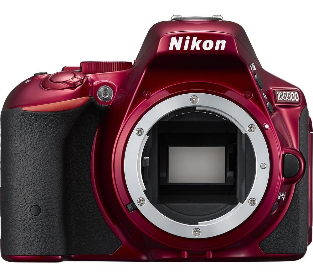 NIKON D5500 DSLR Camera - Red, Body Only