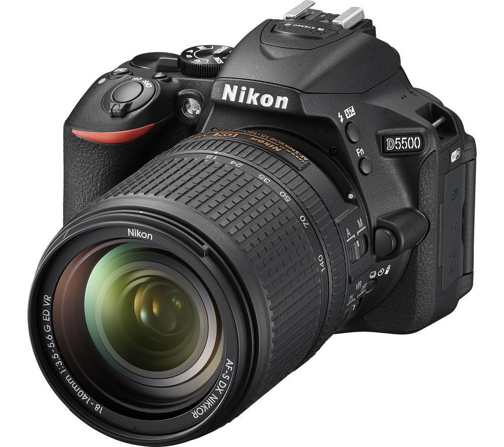 NIKON D5500 DSLR Camera with AF-S DX NIKKOR 18-140 mm f/3.5-5.6G ED VR Zoom Lens - Black