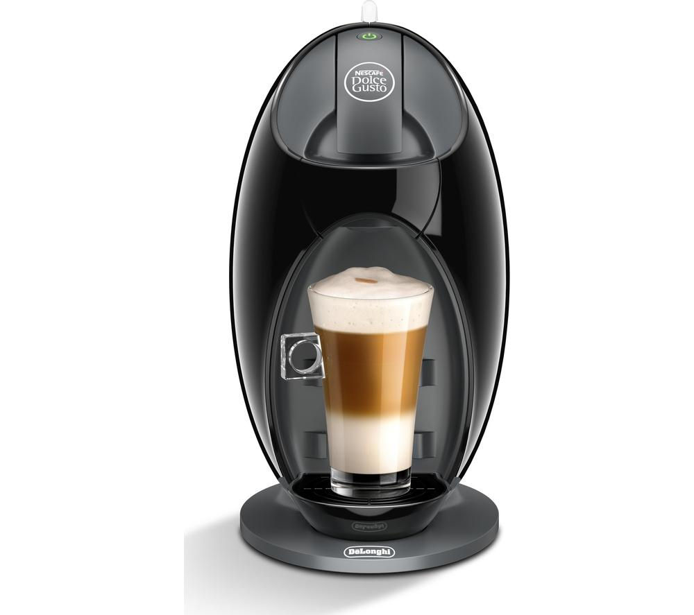 by De'Longhi Jovia EDG250.B Hot Drinks Machine - Black + Dolce Gusto Latte Macchiato - Pack of 8