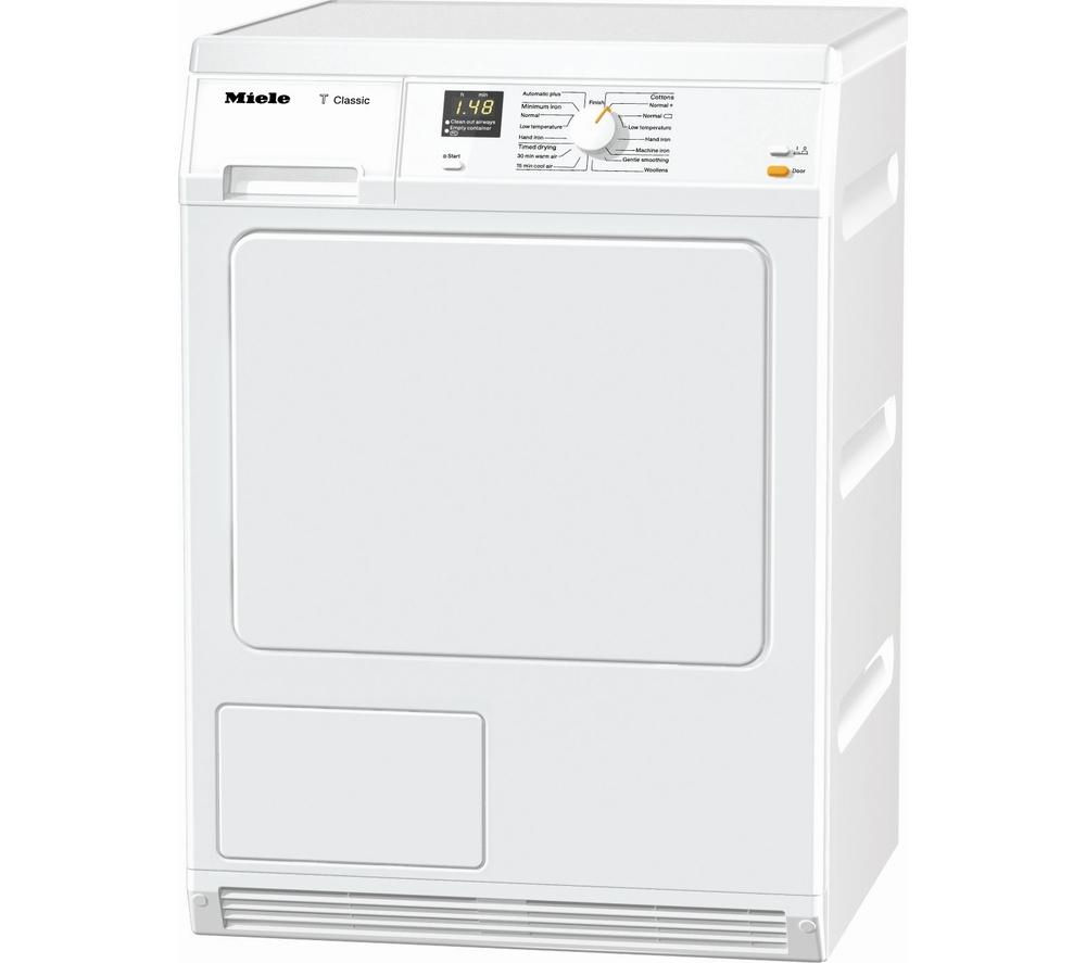 Miele TDA150 Condenser Tumble Dryer - White, White