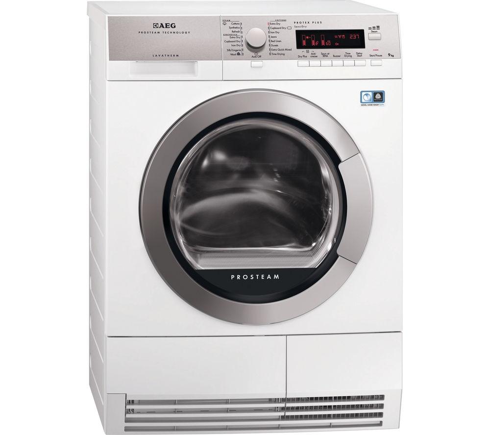 AEG ProTex Plus T88595IS Heat Pump Condenser Tumble Dryer - White