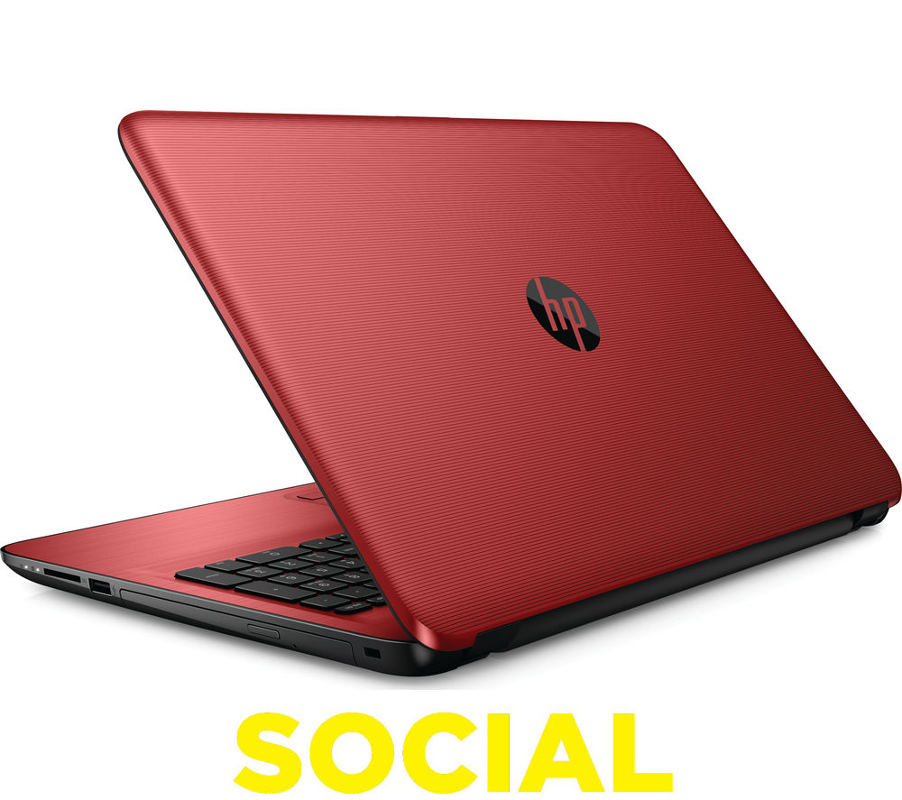"HP 15-ba079sa 15.6"" Laptop - Red + LiveSafe Unlimited 2017 - 1 year"