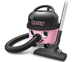 NUMATIC Hetty Hoover HET.160-11 Cylinder Vacuum Cleaner - Pink