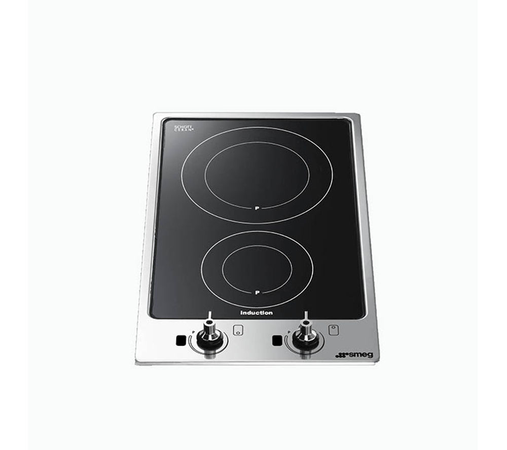buy smeg pgf32i 1 electric induction hob black free delivery currys. Black Bedroom Furniture Sets. Home Design Ideas