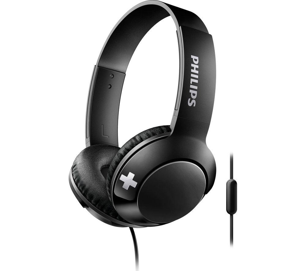 PHILIPS Bass+ SHL3075BK Headphones - Black