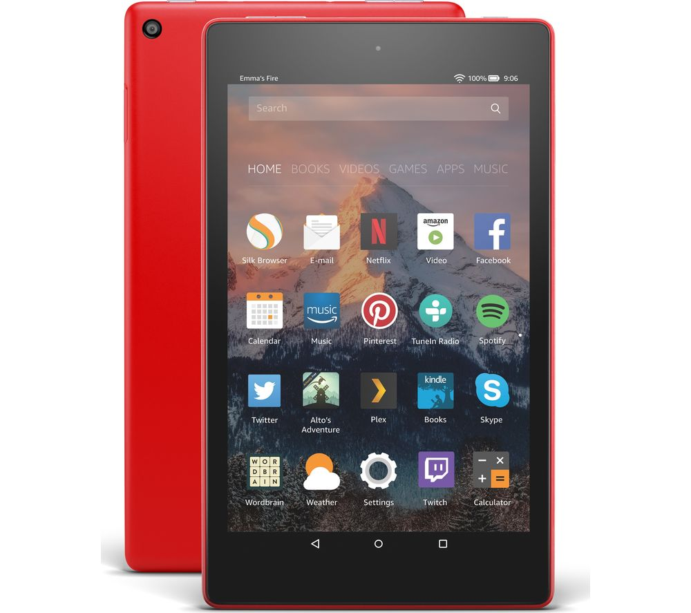 AMAZON Fire HD 8 Tablet with Alexa (2017) - 32 GB, Punch Red