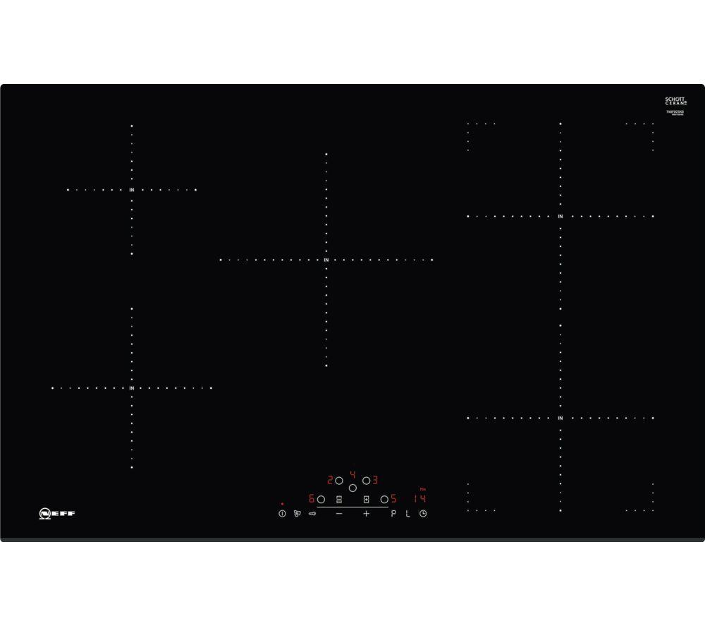 buy neff t48fd23x0 electric induction hob black free. Black Bedroom Furniture Sets. Home Design Ideas
