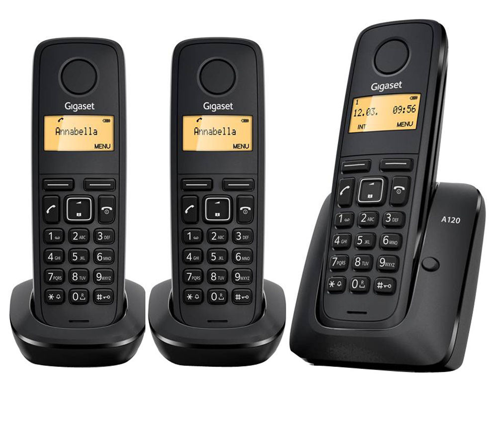 GIGASET A120 Cordless Phone - Triple Handsets