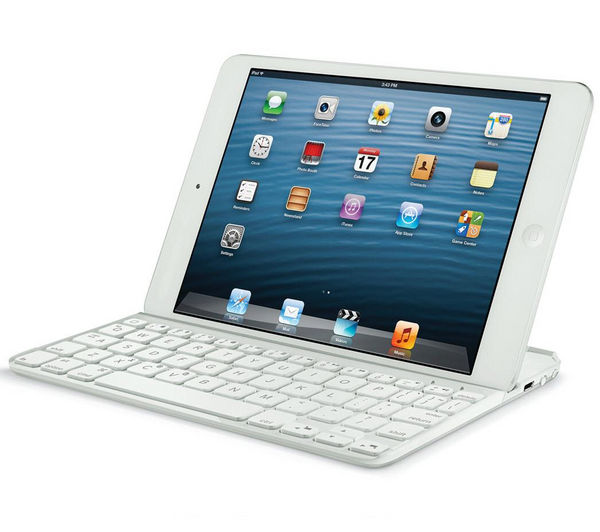 logitech ultrathin wireless ipad mini keyboard cover white deals pc world. Black Bedroom Furniture Sets. Home Design Ideas