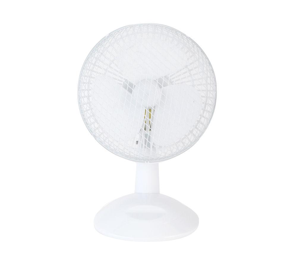 """BELDRAY EH0675 6"""" Desk Fan - White"""