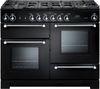 RANGEMASTER Kitchener 110 Dual Fuel Range Cooker - Black & Chrome
