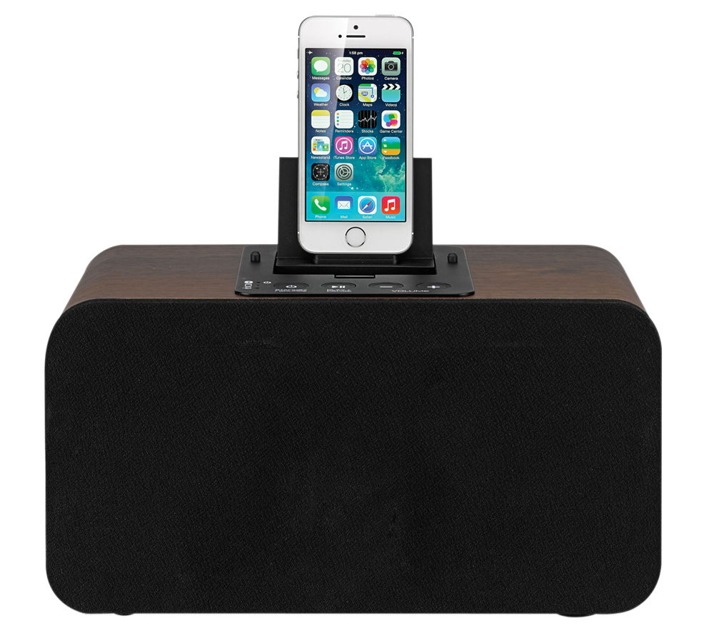 Image of IWANTIT IBTLI14 Wireless Speaker Dock - with Apple Lightning Connector, Black
