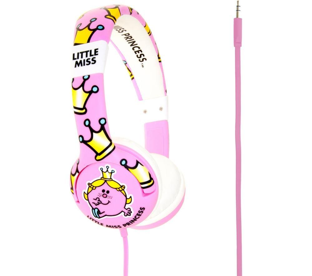 MR MEN Little Miss Princess Kids Headphones - Pink