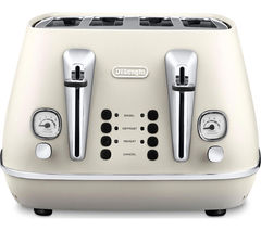 DELONGHI Distinta CTI4003.W 4-Slice Toaster - White