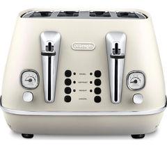DELONGHI Distinta CTI4003.W 4-Slice Toaster - White