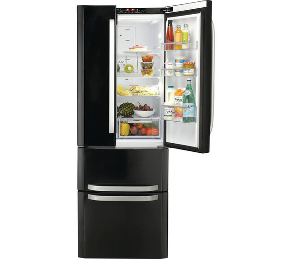 Buy Hotpoint Ffu4dk American Style Fridge Freezer Black
