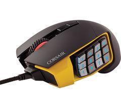 CORSAIR SCIMITAR RGB Optical Gaming Mouse - Black & Yellow