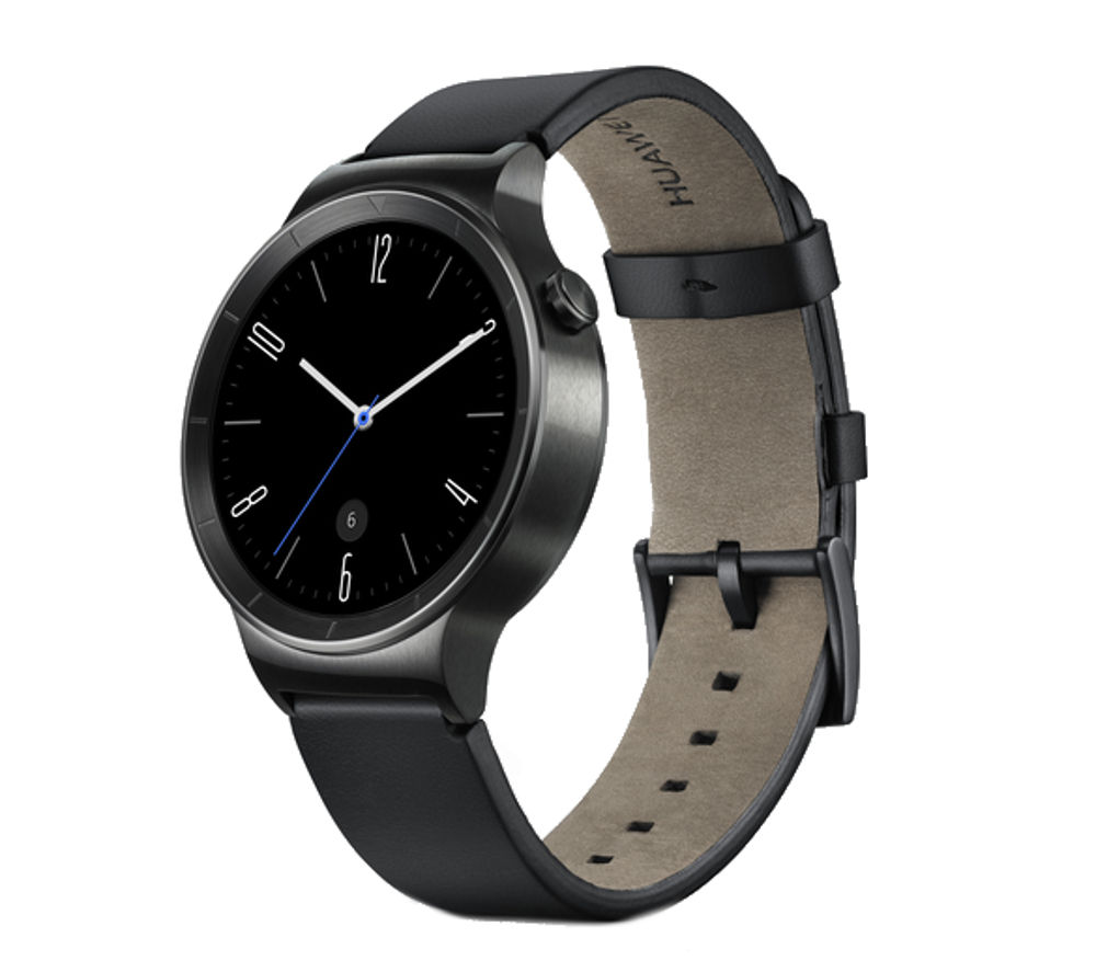 Huawei Active Smartwatch - Black, Leather Strap, Black