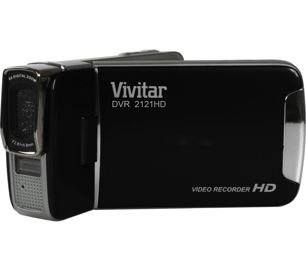 VIVITAR DVR2121 Traditional Camcorder - Black + Adventura SH110 ll Camcorder Case - Black + Ultra Performance Class 10 microSD Memory Card - 32 GB