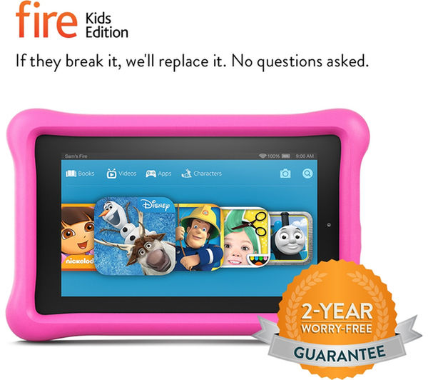 Image of AMAZON Fire 7 Tablet Kids Edition - 16 GB, Pink