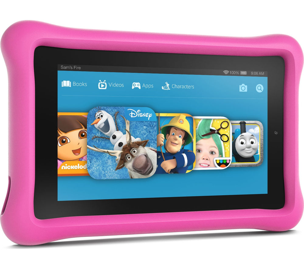 Image of Amazon Fire 7 Tablet Kids Edition - 16 GB, Pink, Pink