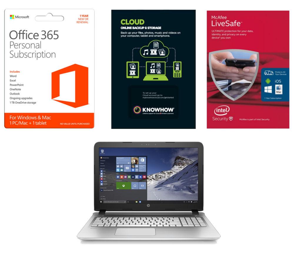 HP Pavilion 15.6 Laptop with Software Bundle  White