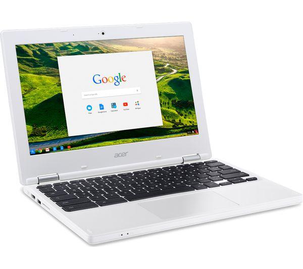 Acer Cb3 131 11 6 Quot Chromebook White Deals Pc World