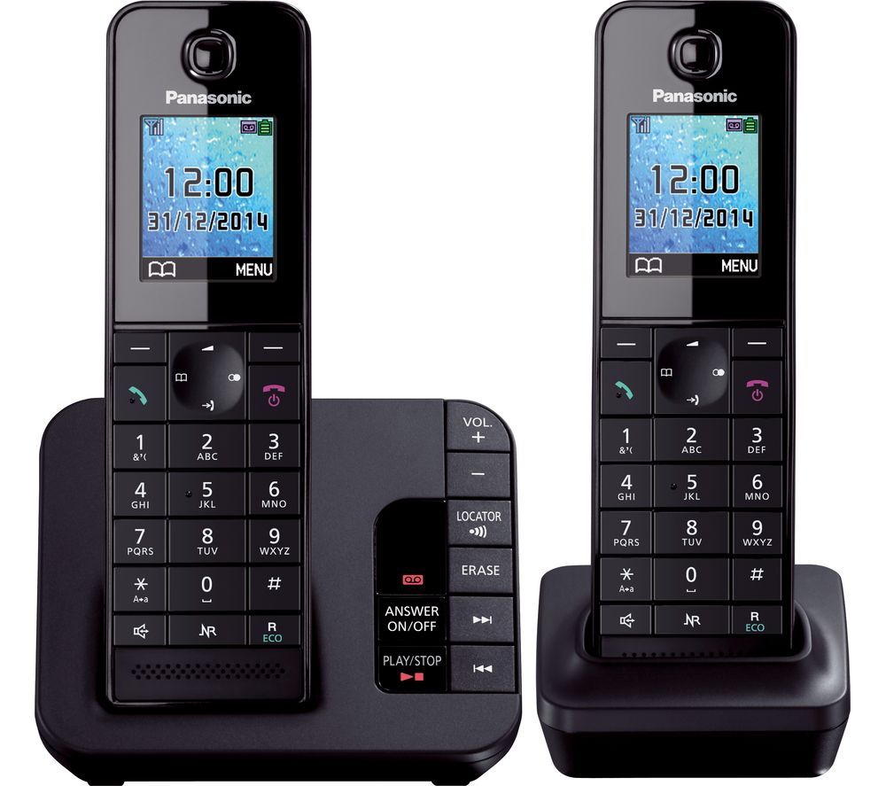 PANASONIC PANASONIC  KX-TG8182EB Cordless Phone with Answering Machine - Twin Handsets