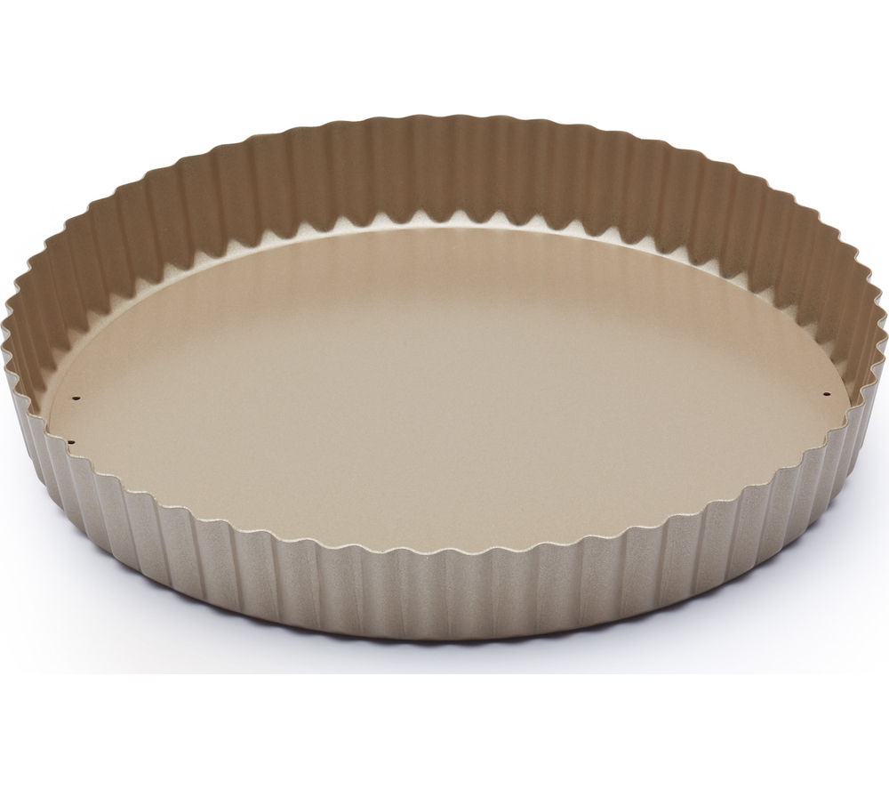 Image of PAUL HOLLYWOOD 25 cm Non-Stick Quiche Tin - Gold, Gold