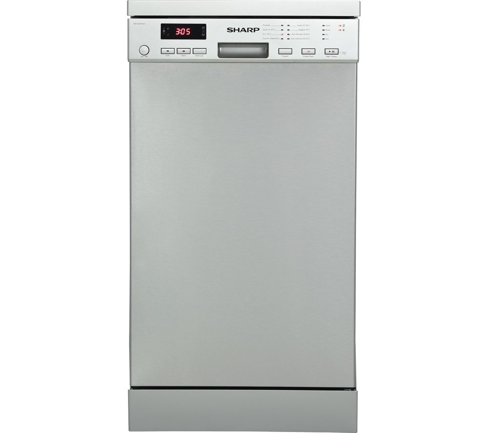 Slimline Kitchen Appliances Buy Sharp Qw S24f443i Slimline Dishwasher Stainless Steel Free