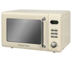 RUSSELL HOBBS RHRETMD706C Solo Microwave - Cream