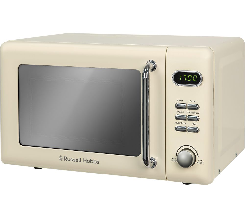 RUSSELL HOBBS RHRETMD706C Compact Solo Microwave - Cream