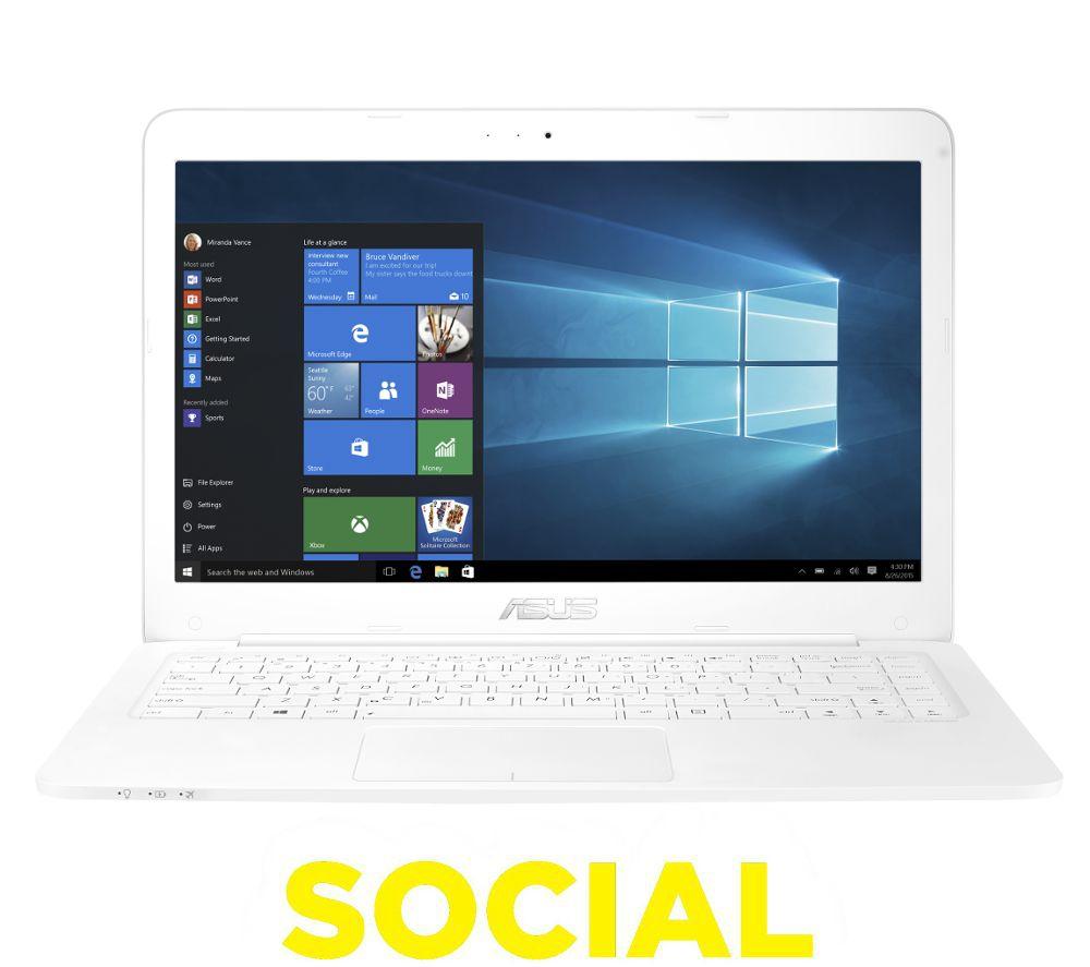 asus vivobook l402 14inch laptop white white