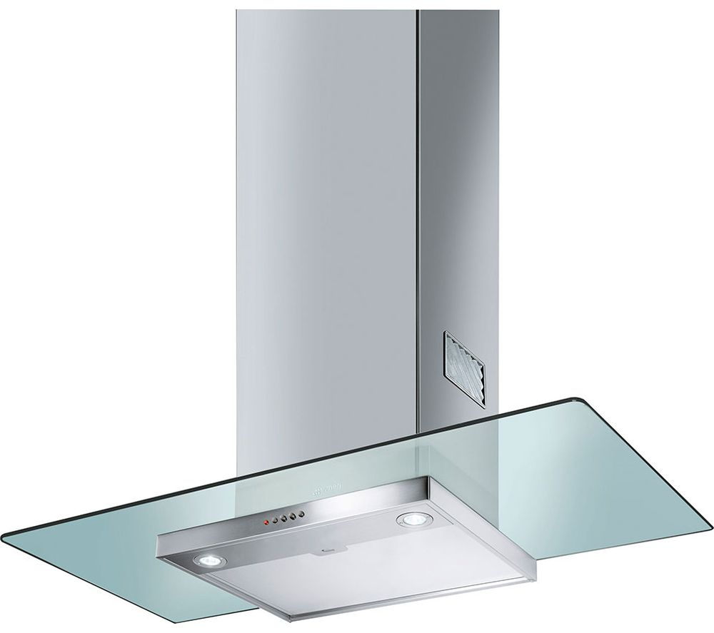 SMEG  KFV92DE Chimney Cooker Hood  Stainless Steel & Glass Stainless Steel