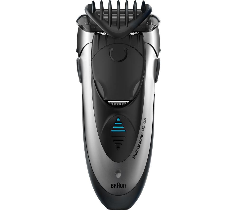 BRAUN Multi Groomer MG5090 Wet & Dry Foil Shaver  Black & Silver Braun