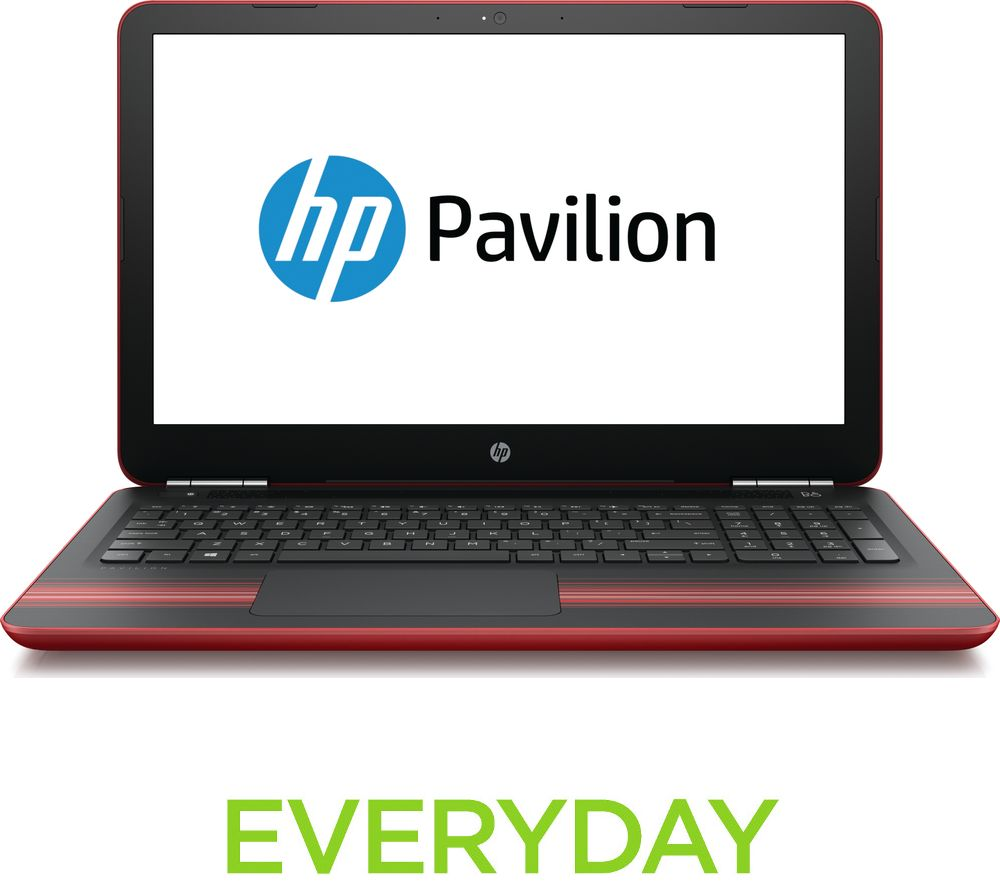 hp pavilion 15 au175sa 15 6 laptop red deals pc world. Black Bedroom Furniture Sets. Home Design Ideas