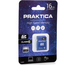 PRAKTICA SDHC Class 10 Memory Card - 16 GB