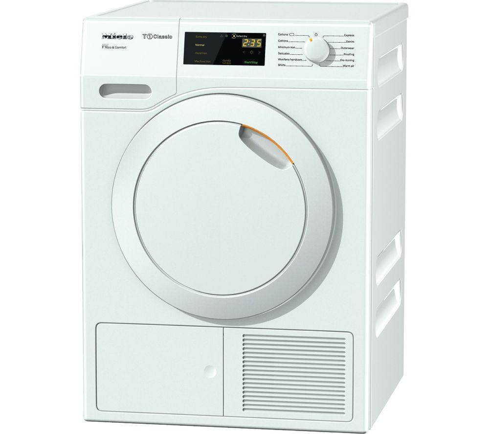 MIELE Eco & Comfort TDD130WP Heat Pump Tumble Dryer  White White