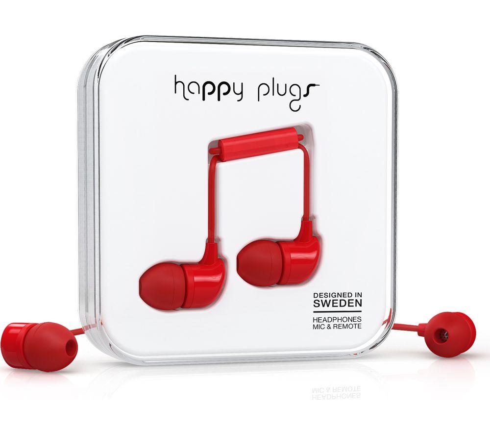 HAPPY PLUGS HP7716 Headphones - Red