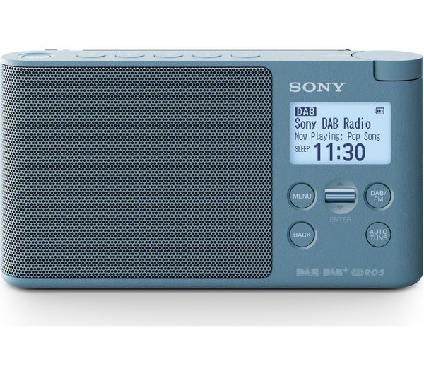buy sony xdr s41d portable dab fm clock radio blue. Black Bedroom Furniture Sets. Home Design Ideas