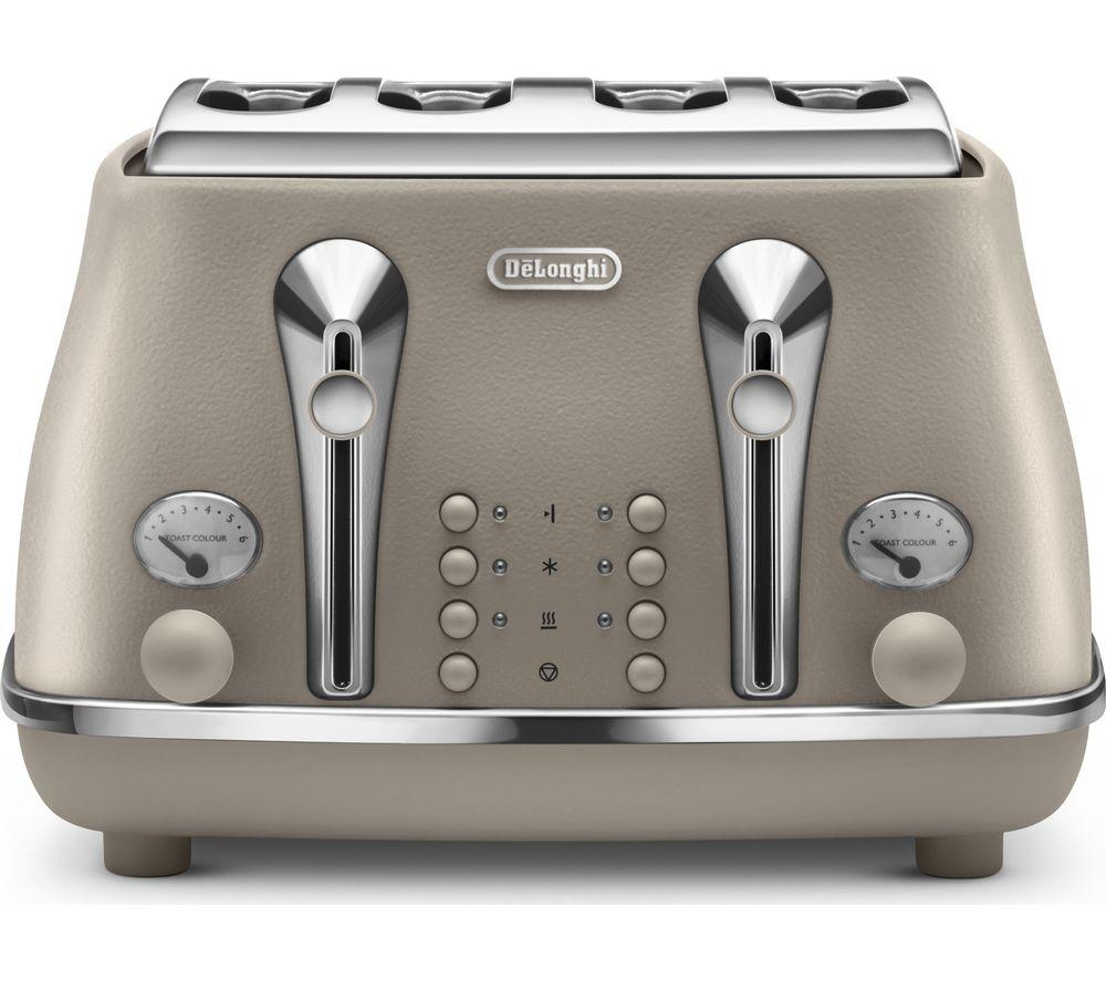 DELONGHI Elements CTOE4003.BG 4-Slice Toaster - Beige